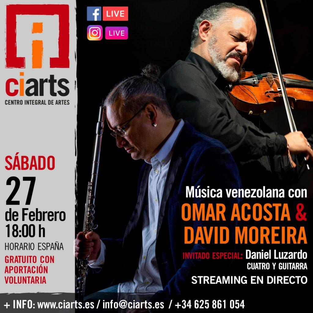 David Moreira y Omar Acosta en concierto @ Centro Integral de Artes